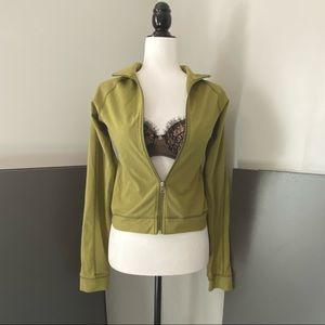 Lululemon Size 6 Olive Green Cropped Light Jacket